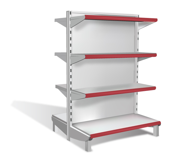 free vector Supermarket shelves vector