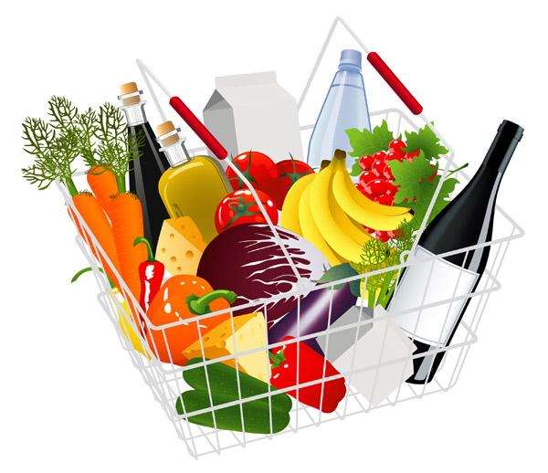 free vector Supermarket shopping theme vector
