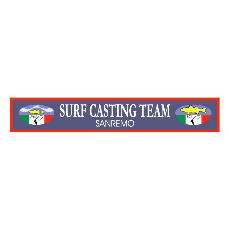 free vector Surf casting team