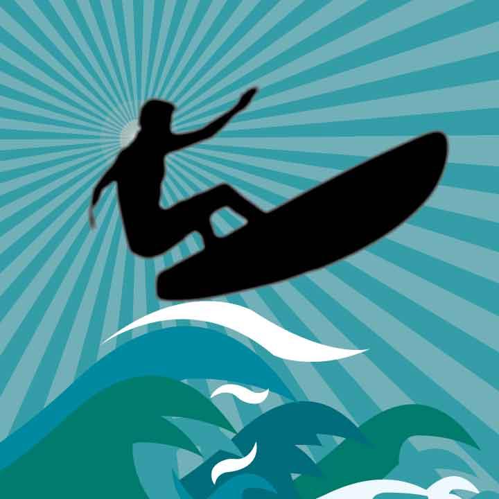 free vector Surf Simple Vector