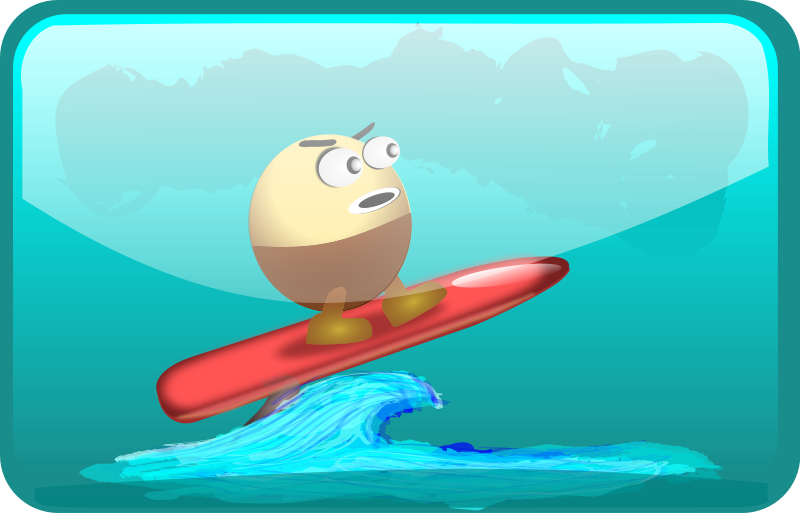 free vector Surfing Egghead