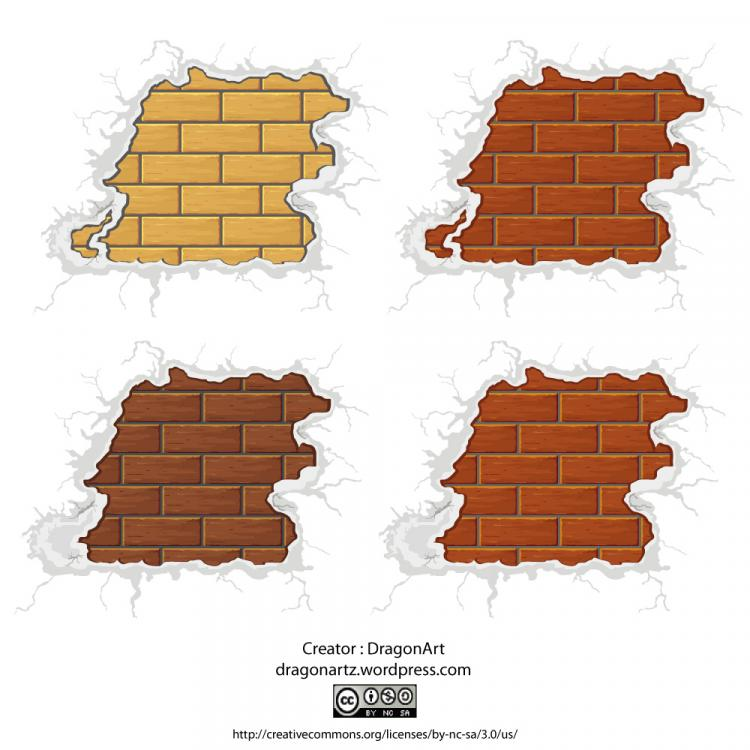 free vector Surrounded by snow-brick vector material