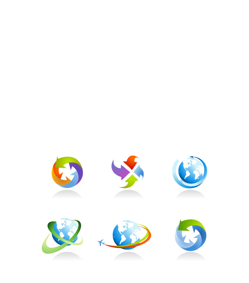 free vector Surrounded globle