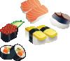free vector Sushi Set clip art