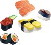 free vector Sushi Set clip art