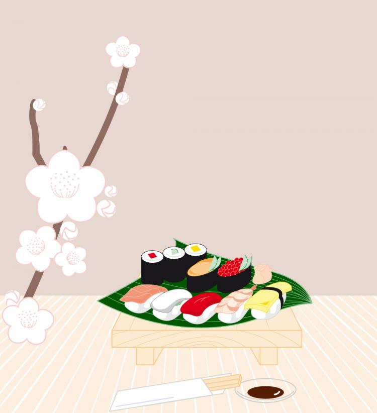 free vector Sushi Vector Graphics 132789