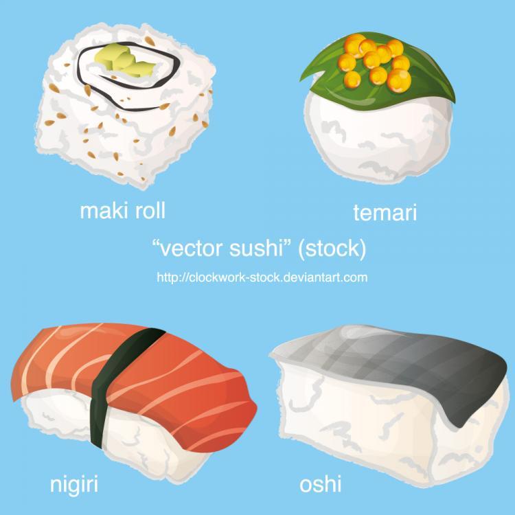 free vector Sushi