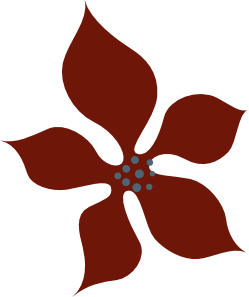 free vector Sutrannu Red Flower clip art