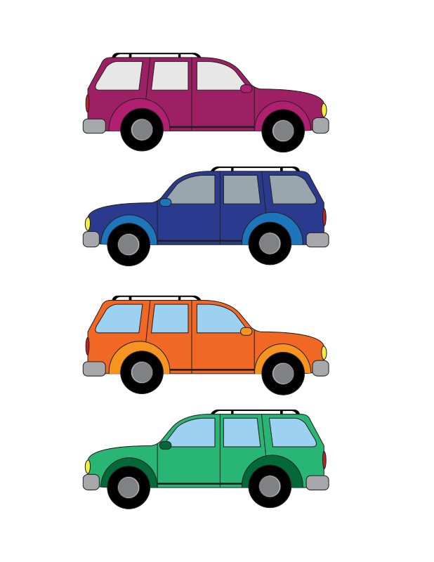 free vector SUV cars