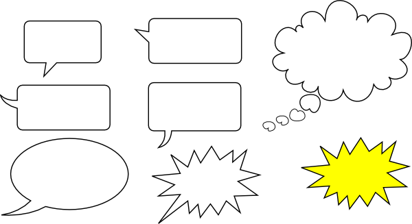 svg speech bubbles clip art free vector 4vector. Black Bedroom Furniture Sets. Home Design Ideas
