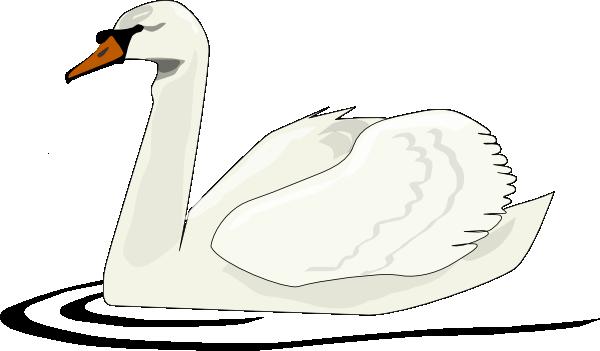 free vector Swan Swimming clip art