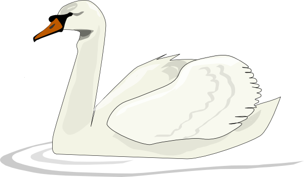 free vector Swan Swimming clip art