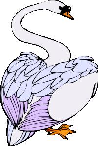 free vector Swan Walking clip art