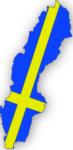 free vector Sweden Flag In Sweden Map clip art
