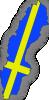 free vector Sweden Flag In Sweden Map clip art