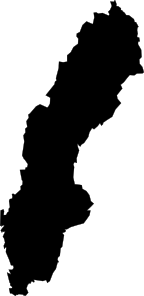 free vector Sweden Map clip art