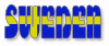 free vector Swedish Flag In The Word Sweden clip art