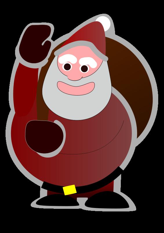 free vector Sweet Santa