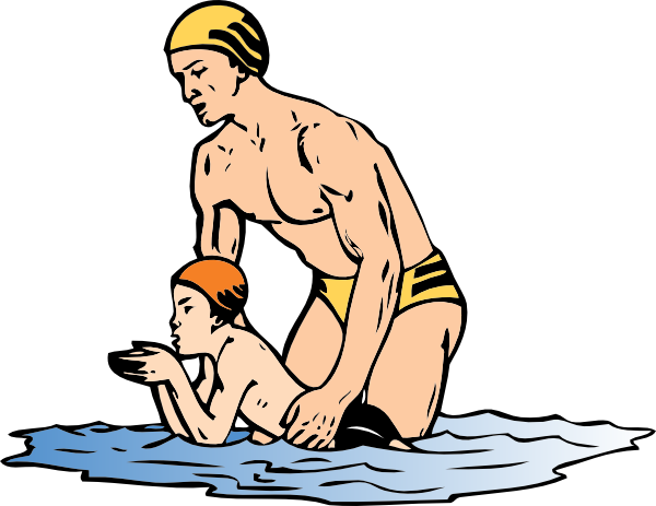 free vector Swim Lesson clip art