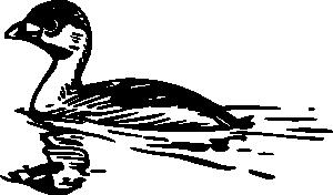 free vector Swimming Duck clip art