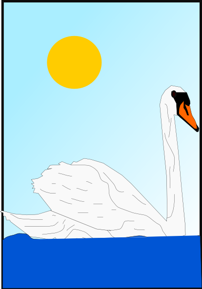 free vector Swimming Swan clip art