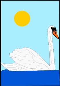 free vector Swimming Swan clip art