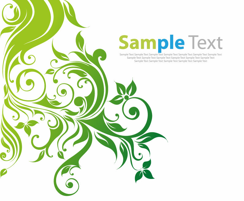 free vector Swirl Floral Vector Background
