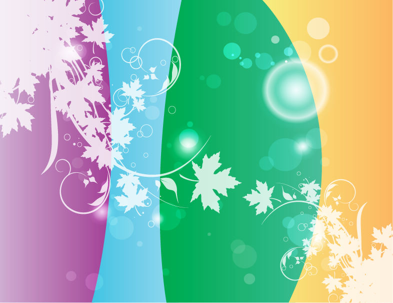 free vector Swirly Flower Colors Vector