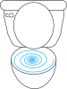 free vector Swirly Toilet clip art