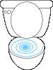 free vector Swirly Toilet clip art