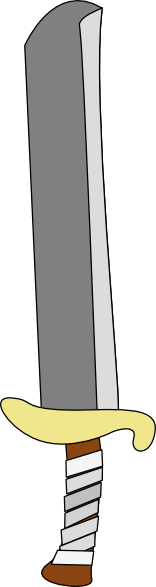 free vector Sword Machete clip art