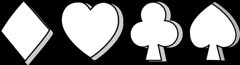 free vector Symbole carte / card symbol