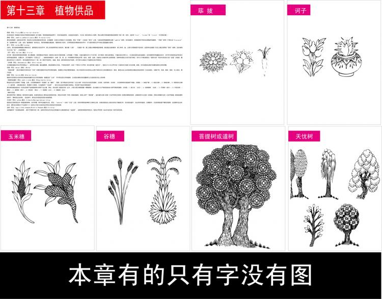 free vector Symbols of tibetan buddhism and the figure of 13 objects plant offerings vector