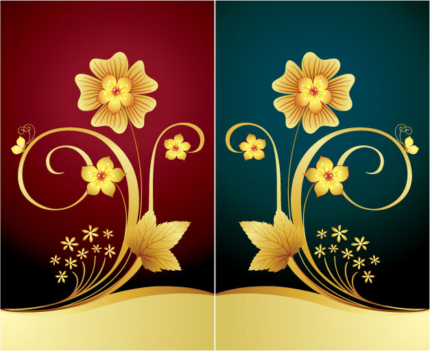 free vector Symmetrical design pattern vector material