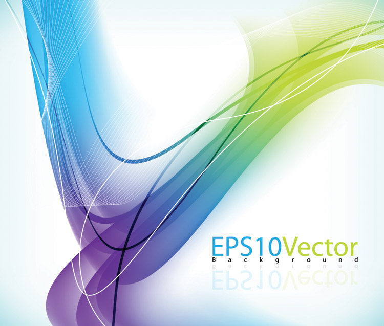 free vector Symphony line background vector