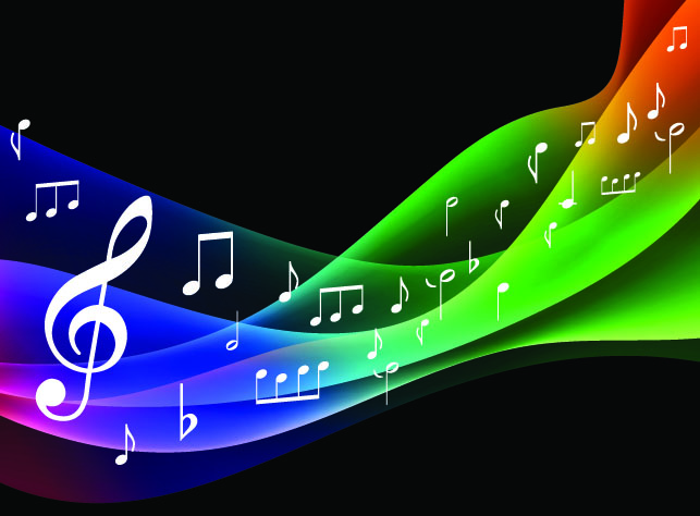 free vector Symphony music background vector