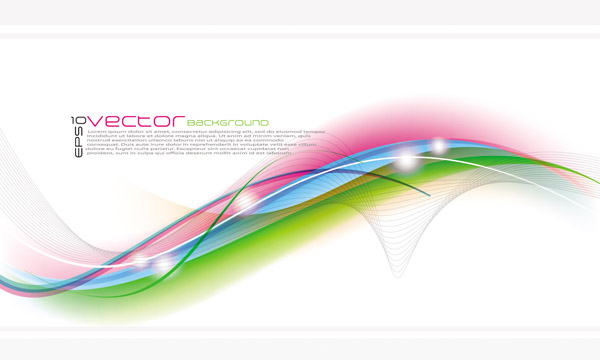 free vector Symphony of curves and flowers vector background