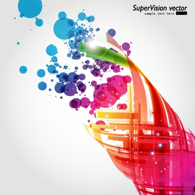 free vector Symphony of dynamic light vector background 2