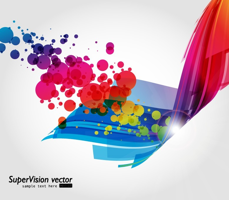 free vector Symphony of dynamic light vector background 3
