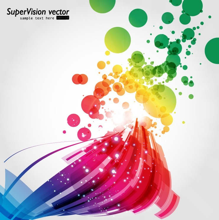 free vector Symphony of dynamic light vector background 4