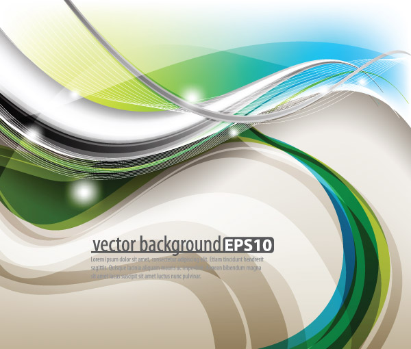 free vector Symphony of dynamic lines of the background vector 3