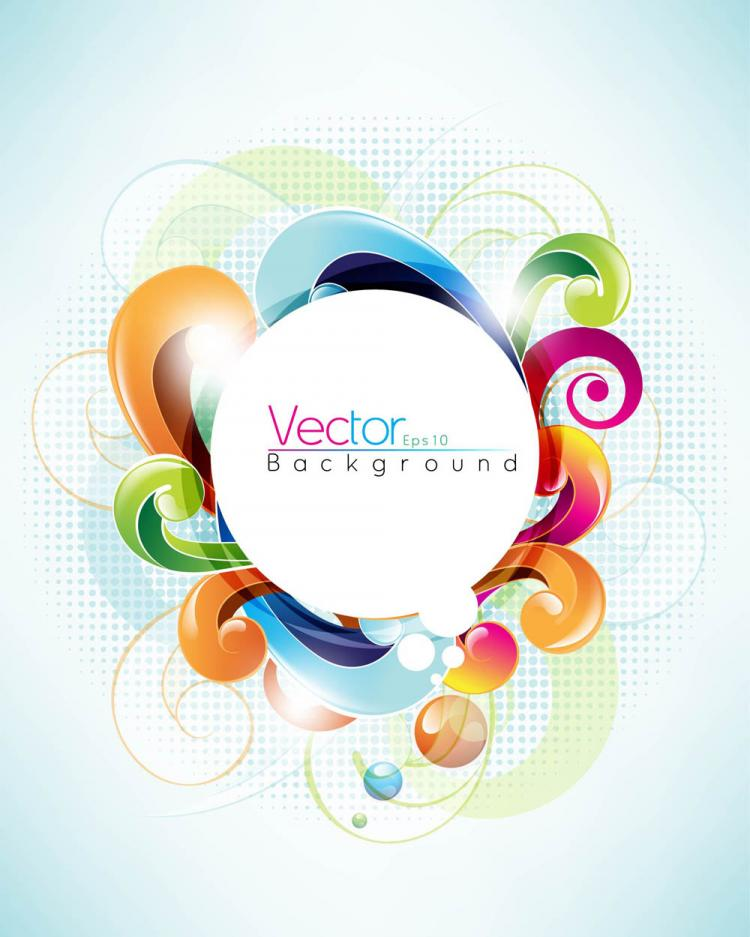 free vector Symphony of dynamic pattern background 03 vector