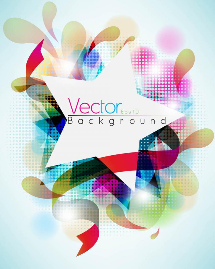free vector Symphony of dynamic pattern background 04 vector