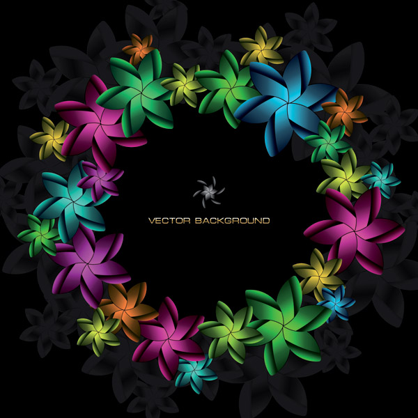 free vector Symphony of flowers vector