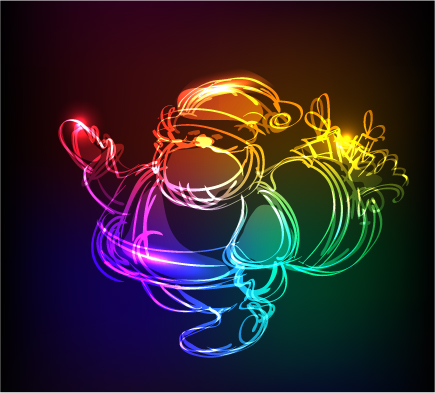 free vector Symphony of light christmas vector graphics
