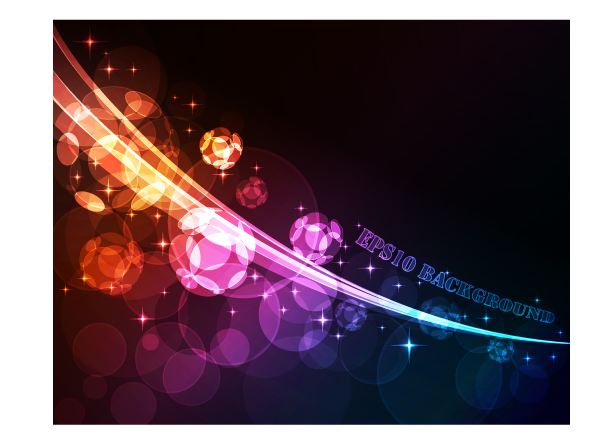 free vector Symphony of light vector background dream