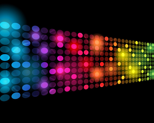 free vector Symphony of light vector dot background 2