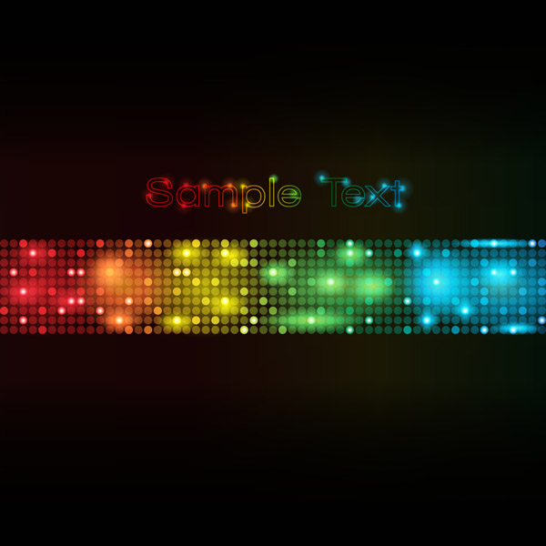 free vector Symphony of light vector dot background 3
