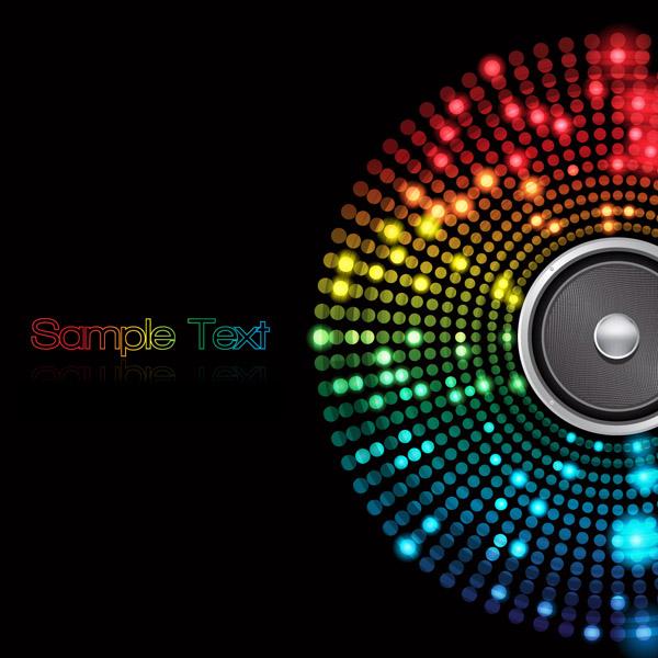 free vector Symphony of light vector dot background 5