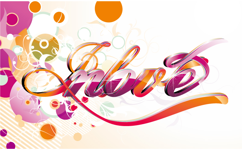 free vector Symphony word circular background and vector art